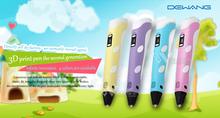 2016 DEWANG 3D Stereoscopic Printing Pen Portable Yellow with US UK AU EU plug Adapter 20