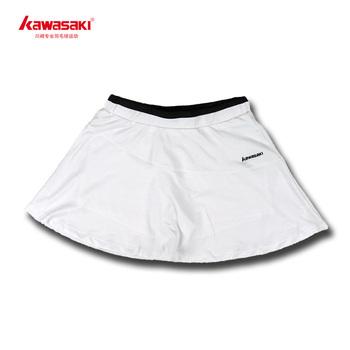 Free shipping KAWASAKI badminton skorts tennis ball sports culottes shorts women's 186 cool white