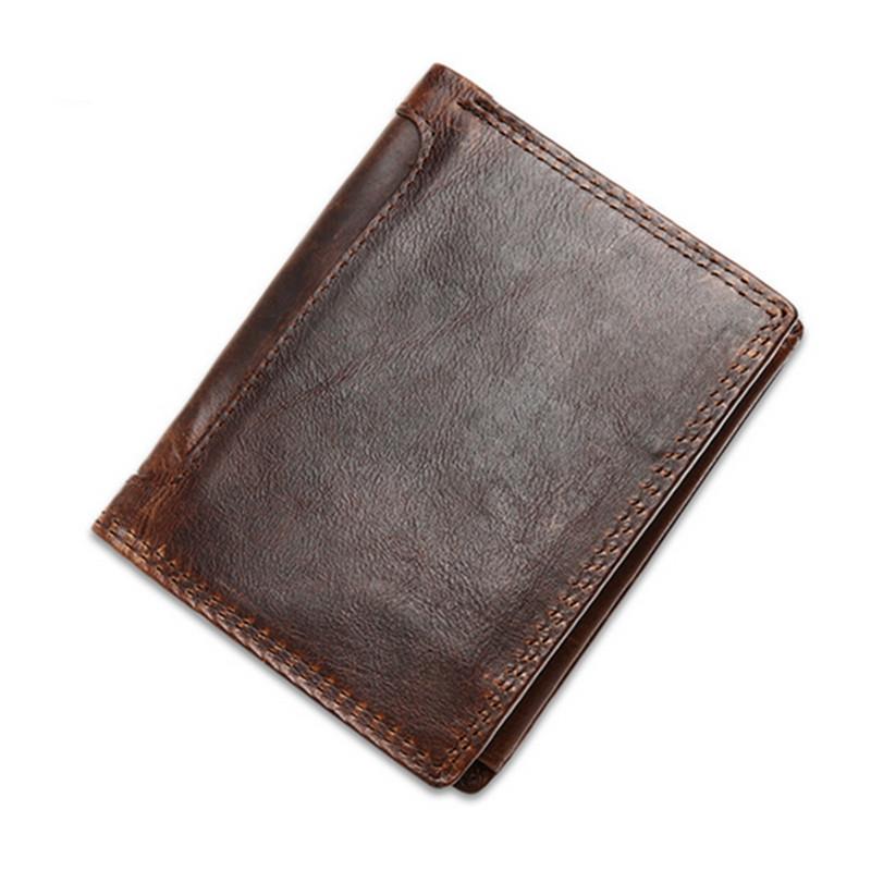 New Trendy Charm men Crazy horse leather retro wallet Brand Designer Interior Zipper Purse Card Holder With Coin Pocket Bag<br><br>Aliexpress