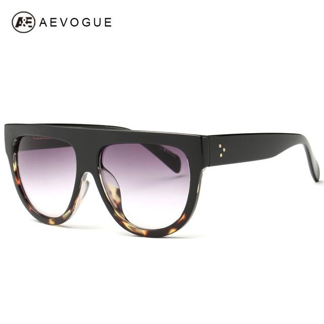 Aevogue очки женщины марка дизайн высокое качество солнцезащитные очки панк стиль плоскопанельный объектива óculos De Sol Femininos UV400 AE0328