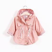 Children s clothing kids cotton trench girls cartoon batwing coat hot selling hoodies jackets girls fashion