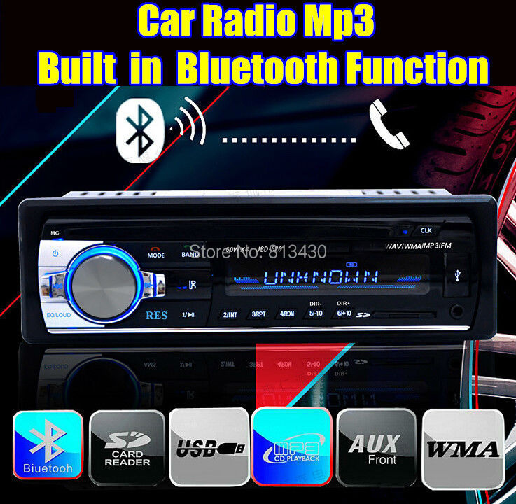 2015 new 12V Car tuner Stereo bluetooth FM Radio MP3 Audio Player Phone USB/SD MMC Port Car radio bluetooth tuner In-Dash 1 DIN(China (Mainland))