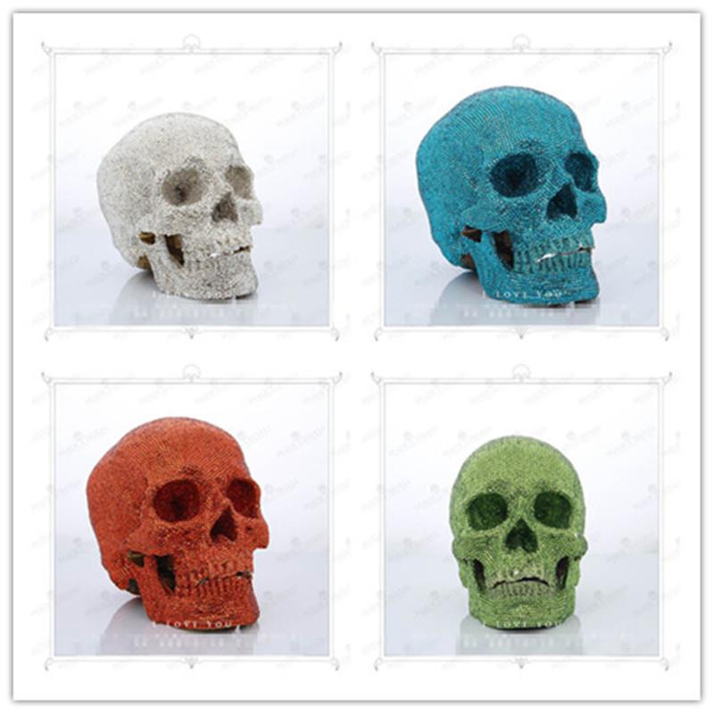 P-Flame New 1:1 human skull terrorist skulls ghost cranium Skull Heads CrossBones Skullcandy Diamond crystal skull(China (Mainland))