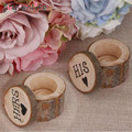 1pair Wood Craft Wedding Ring Box His Hers Rustic Decor Valentine s Day Anniversary Monuments Supplies