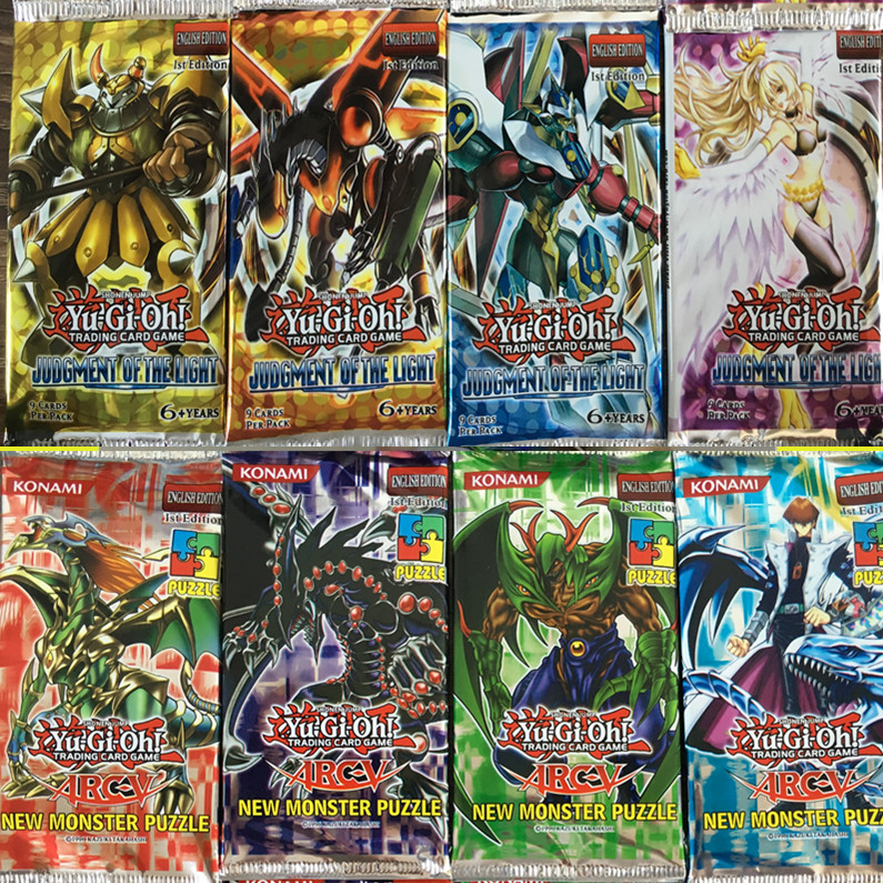 36 pcs/lot Yugioh Card Y805 Judgment Of The Light Y901 Duelist Advent English Version Look For The Legendary Ghost Game Card Toy(China (Mainland))