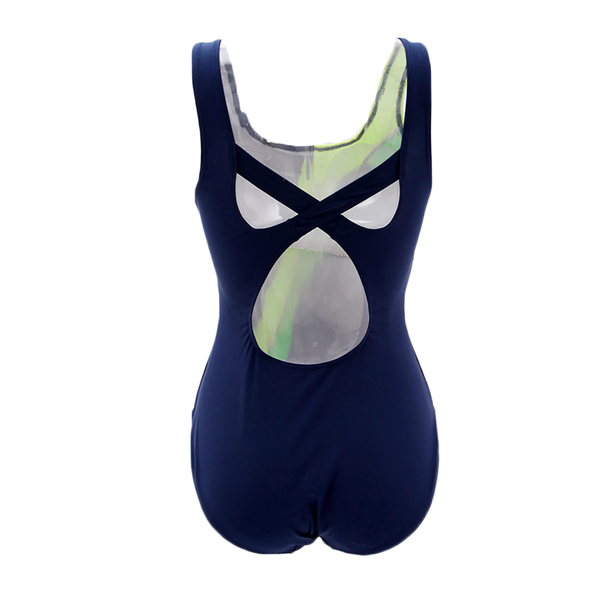 One-Piece Suits Professional Women High Leg Cut RacerbackTwill Printed Swimsuit Sport Training Racing Competition Swimwear(China (Mainland))