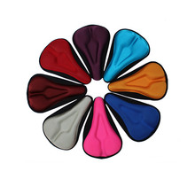 Bicycle Saddle Seat Cover Comfortable 3D Silicone bike Gel Cycling Seat Cover pad Accessory 5 Color(China (Mainland))