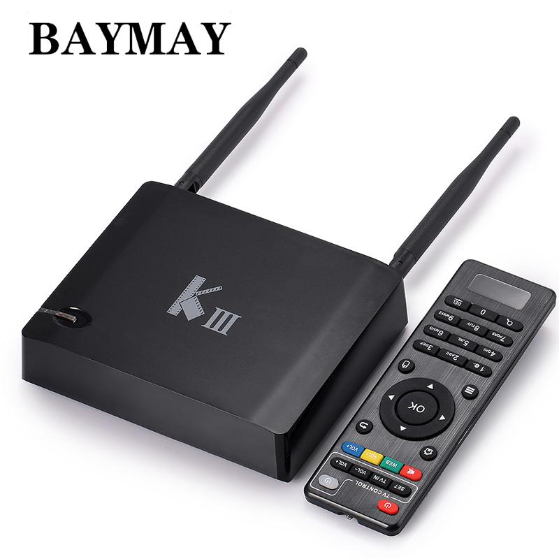 KIII tv box Amlogic S905 K3 Android 5.1 4K Quad Core 2GB/16GB 2.4G/5GHz Dual WIFI Gigabit LAN Bluetooth BT4.0 KODI Media Player<br><br>Aliexpress