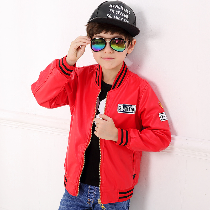 Compare Prices on Red Leather Kids Jacket Boy- Online Shopping/Buy ...