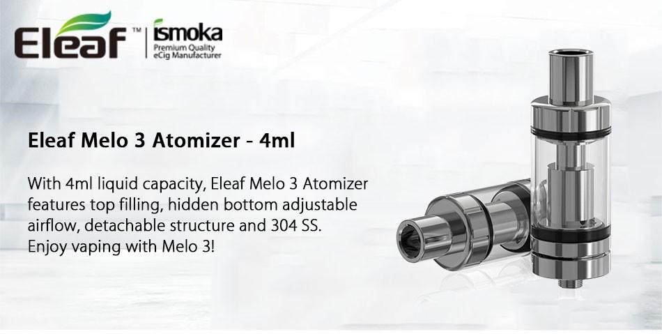 ถูก Eleaf Melo 3 melo IIIเครื่องฉีดน้ำVape 4มิลลิลิตรTopFillingการควบคุมการไหลของอากาศSubohmถังเครื่องฉีดน้ำบุหรี่อิเล็กทรอนิกส์สำหรับIstick Picoสมัย