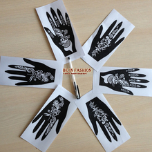 1piece 2015new Popular many patterns Henna Tattoo Stencil/Template tattoo hands Painting Kit sexy girl good quality reuse retail(China (Mainland))