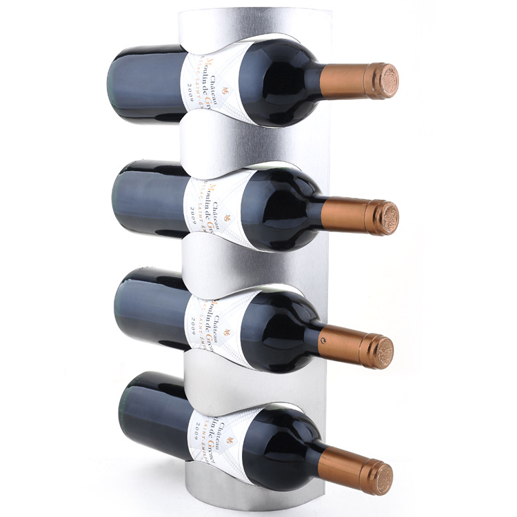 European creative household stainless steel wall mounted wine rack wine rack wine bottle Continental Shelf(China (Mainland))