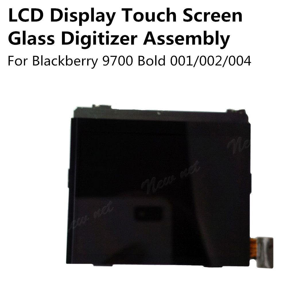 New LCD Display Touch Screen Glass Digitizer Assembly for Blackberry 9700 Bold 002 / 001 / 004 Replacement Parts Free Shipping(China (Mainland))