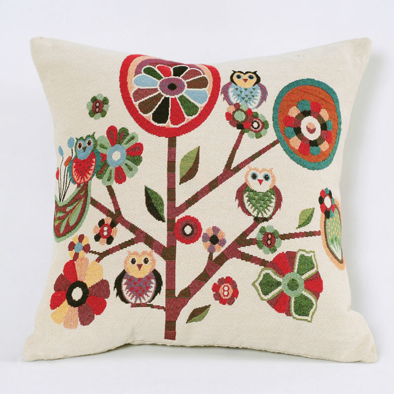 Traditional Sofa Pillows : Aliexpress.com : Buy 2015 Jacquard Owl Accent Decorative Throw Pillow Case Traditional Sofa ...