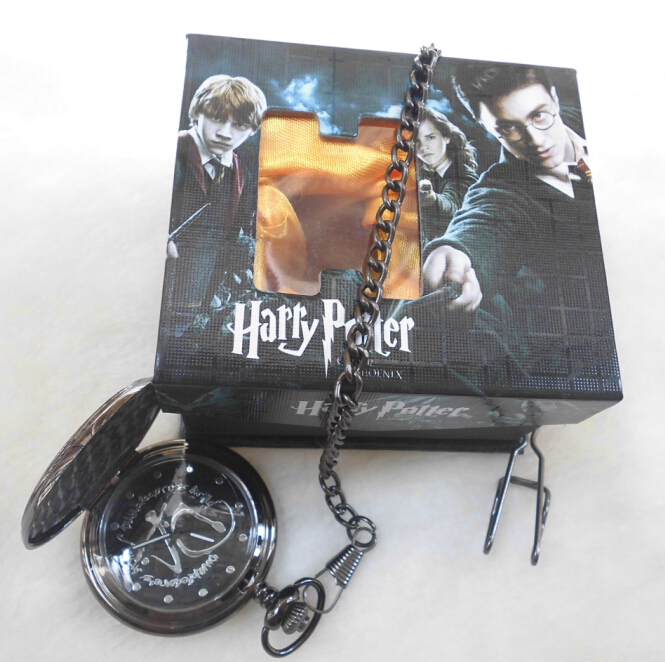 30pcs/lot Harry Potter Da Logo Pocket Watch New in Box free shipping DHL<br><br>Aliexpress