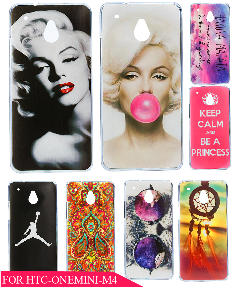 Beauty Painting Marilyn Monroe Lips Protective Phone Hard Plastic Hard Plastic Phone Case Cover for HTC One Mini M4 601E(China (Mainland))