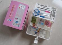 Small nurse family medicine box multilayer medical first aid box health box Emergency Kits(China (Mainland))