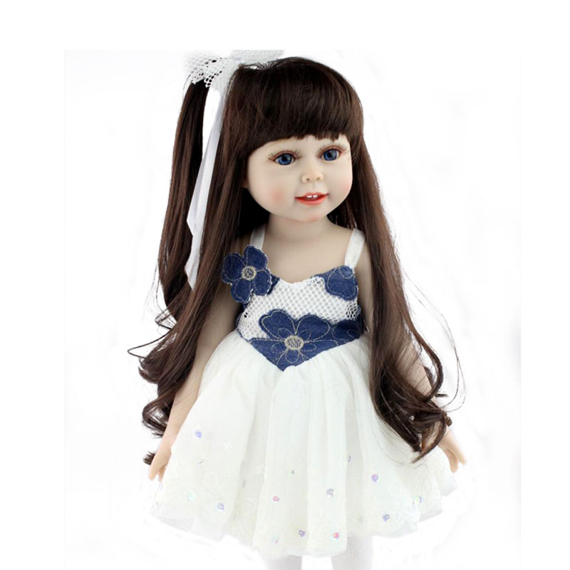 Fashion Cute American Girl Dolls Journey 18 Inch Soft Touch Feeling Toys for Kids Pullip Doll barbi e Bebe juguetes 360 Move(China (Mainland))