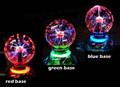 Crystal Magic Glass Plasma Ball Car Air Freshener Neon Sphere Negative Lon Car coolInterior Light Sound