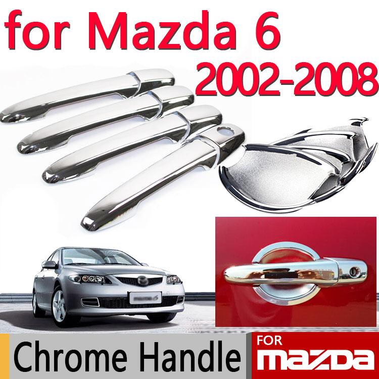 2005 Mazda Mazda6 Exterior: For Mazda 6 2002 2008 Chrome Door Handle Covers Trim Set