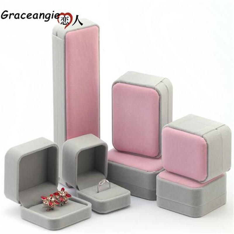 Multi-Size High-Grade Velvet Jewelry Boxes Hairy Value Factory Direct Ring Earring Bracelet Pendant Storage Box Gift Box CJ835(China (Mainland))