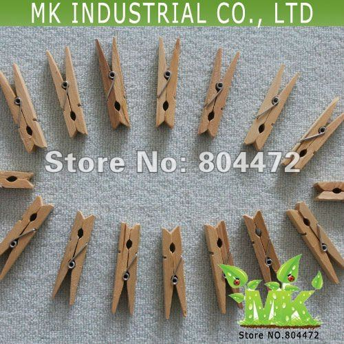 48mm Birch Wooden Clothes Pins Natural Color Wholesale
