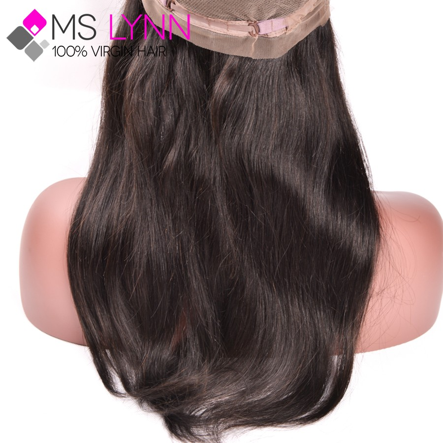 Top 360 Lace Frontal With Bundle Brazilian Virgin Hair Straight Lace Frontal Closure With Bundles Lace Frontals With Baby Hair