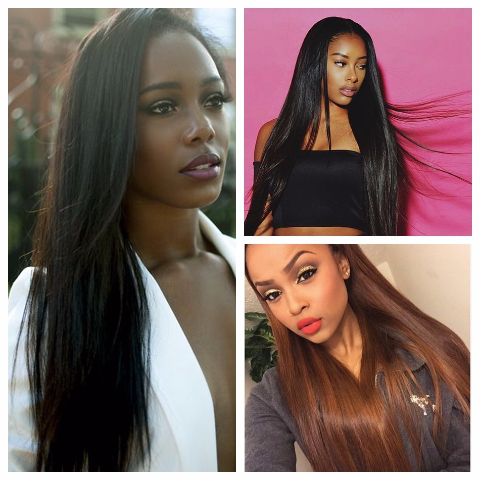 Premium WoWigs Hair Brazilian Virgin Hair Straight 1 Bundle Deal Natural Color 1B
