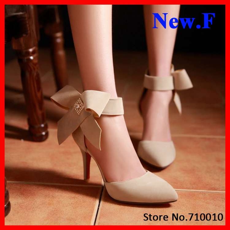 2015 women pumps sexy ankle strap pointed toe thin heel heel shoes nice women dress shoes wedding shoes size 34-42<br><br>Aliexpress