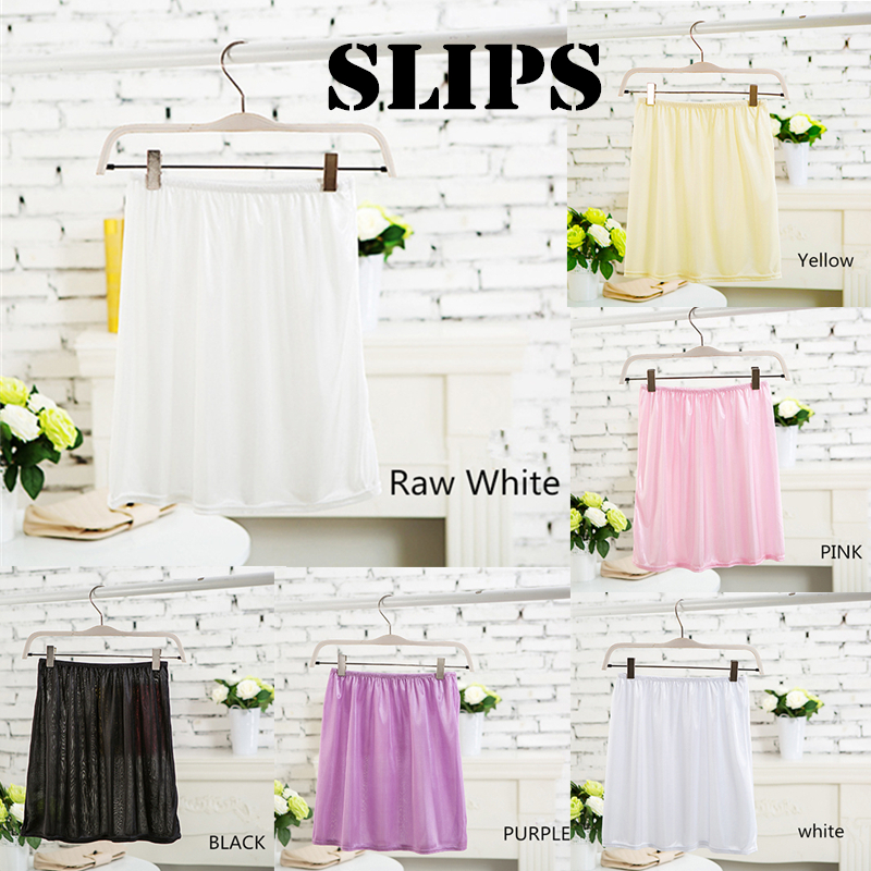 High quality woman silk -like solid half slips women underskirt for girl lady skirt SMS002(China (Mainland))