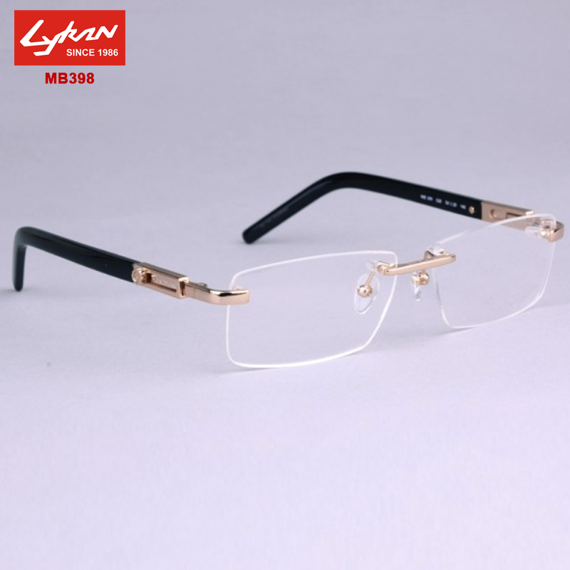 brand points men designer mb398 rimless eyeglasses frames for men