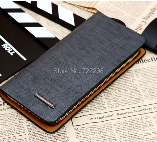 Top grade genuine pu leather business long wallets men fashion trend waterproof design purse men's clutch wallet black/brown - Shenzhen Huatong Luxury Department store
