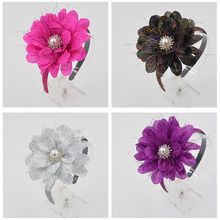 Women Girls lady Fashion pearl silver jewelry Headband Hairband party masquerade ball Elegant Hair Bands hair accessories