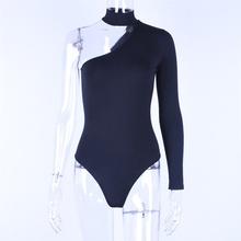 Hugcitar de algodón halter uno-hombro sexy nueva moda mujer invierno primavera sólida bodycon de cuerpo(China)