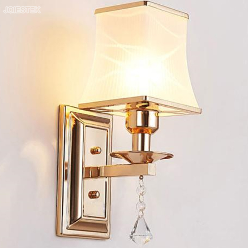 Modern Decorative Gold Wall lamps With Shade For Living room Bedroom Hotel Restaurant Art Bedside Lamps Wall Lights 1934(China (Mainland))