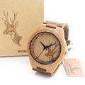 2017 BOBO BIRD Men s Bamboo Wooden Watches Quartz Sports Watches Genuine Leather Strap Women Watches