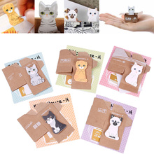 10 Pcs Cute Mini Kitty Dog House Sticker Post Pad Bookmark Mark Tab Memo Sticky Notes EVBY#67768(China (Mainland))