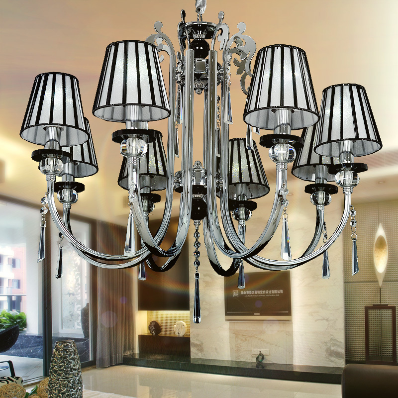 8 head European wrought iron chandeliers modern minimalist style living room chandelier bedroom garden fresh restaurant with ch(China (Mainland))
