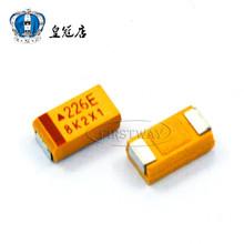 Buy 100 PCS/LOT SMD tantalum capacitor 226 e 22 uf 25 v C 6032 10% bravery yellow polar capacitors for $13.40 in AliExpress store