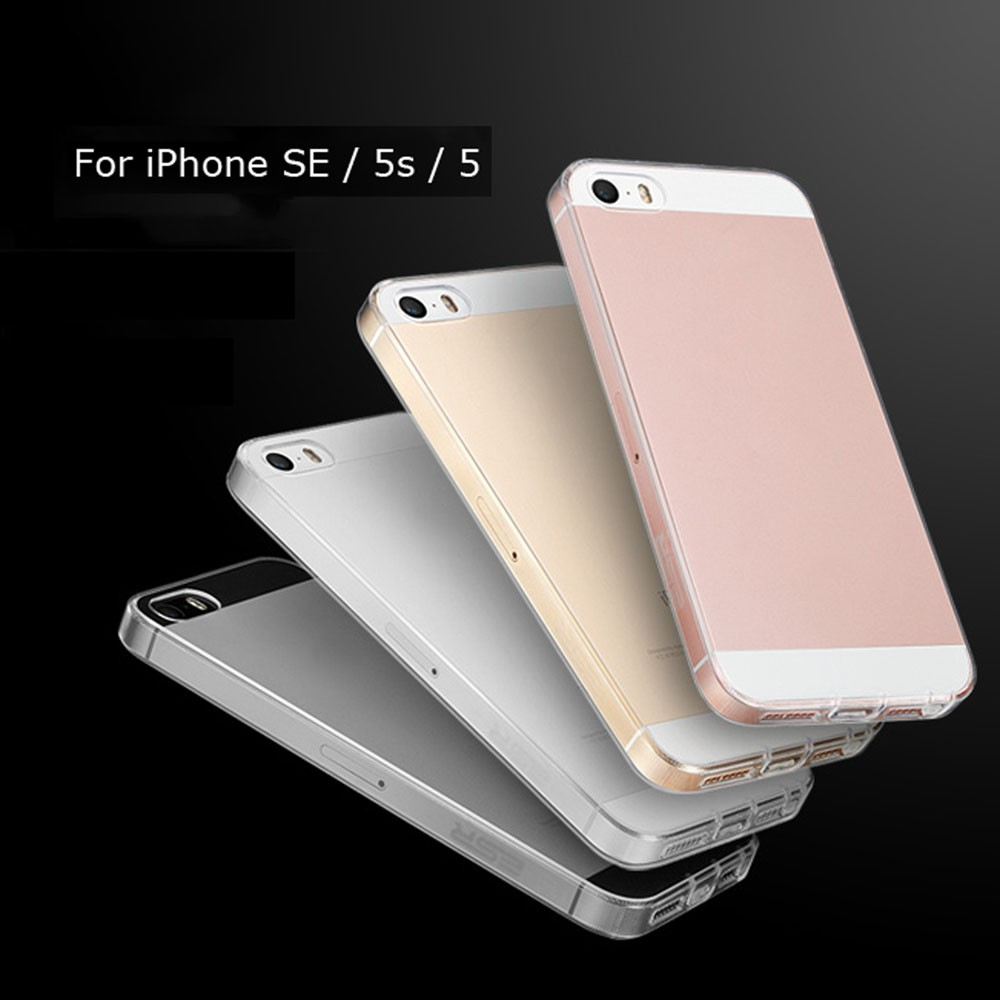 For iPhone 5 5S SE Case Cover Ultra Thin Soft Transparent Clear Crystal Phone Pouch Case Back Cover High Quality