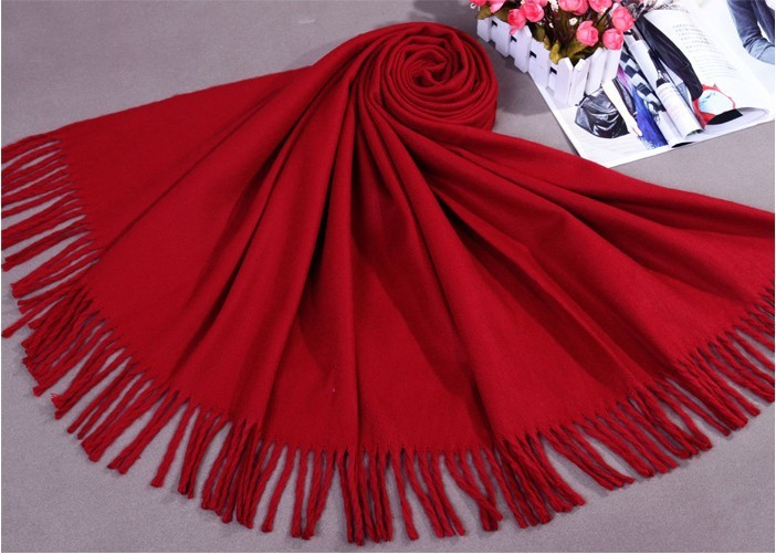 Sale New Winter Dark Red Chinese Women's Cashmere Shawl Scarf New Thick Warm Wrap 015(China (Mainland))