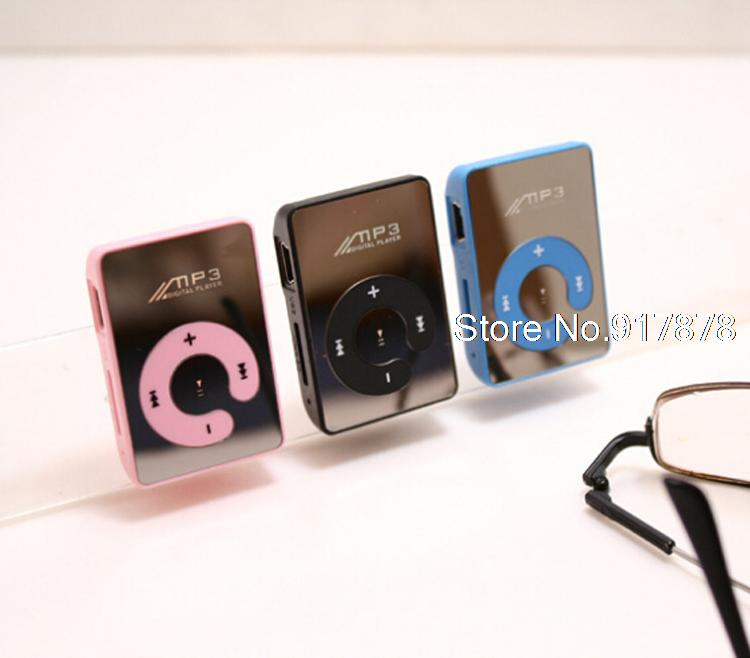 Mini Clip Mp3 Player / Players Sport Mirror Mp3 Music Media Player Support 1-8GB Micro SD TF Card MP3 2015 wholesales(China (Mainland))