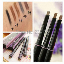 New 1pcs automatic eyebrow pencil makeup 5 style paint for eyebrows brushes cosmetics brow eye liner
