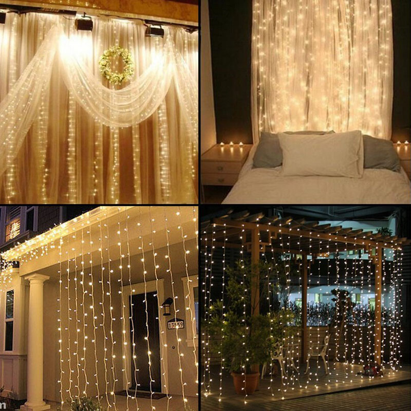 4.5mx3m connectable 300LED Curtain Icicle led String Lights Christmas New Year Wedding Party decorative outdoor fairy Lights(China (Mainland))