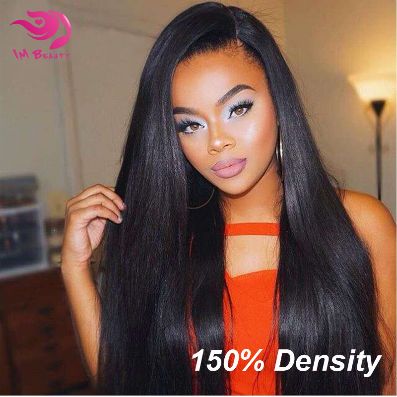 150% Density Full Lace Human Hair Wigs Unprocessed 7A Brazilian Virgin Hair Straight Glueless Full Lace Wigs For Black Woman<br><br>Aliexpress