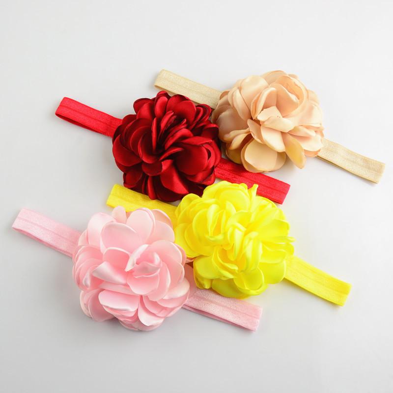 10 pcs/lot Boutique headbands, Layered Rosette Headband, Burned Satin Flower Headband(China (Mainland))