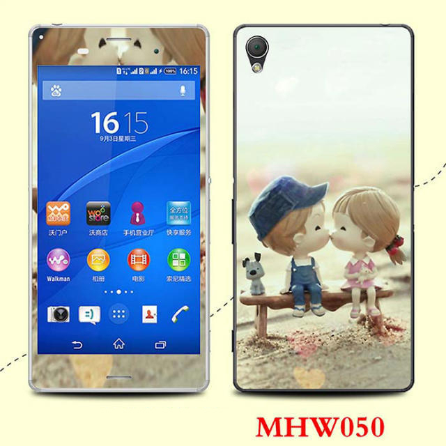 Printed sweer kiss sticker Sony Xperia Z3 screen protector Z 3 III cover cell mobile phones film - Decor Union Store store