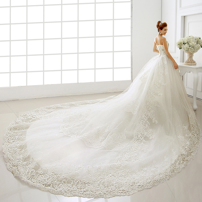Dress up pregnant women picture more detailed picture for Wedding dresses with royal length train