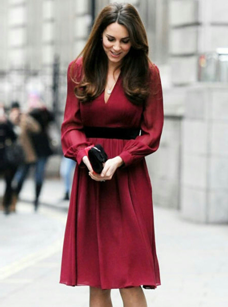 Здесь можно купить  Red Women Princess Dress Sexy V-Neck Kate Middleton Dresses WF008  Одежда и аксессуары