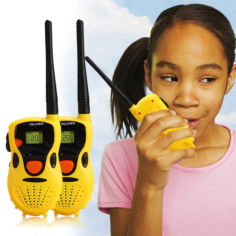 Baby Handheld Walkie Talkies Toys Kids Educational Games Children's gifts Yellow Brand Free shipping(China (Mainland))